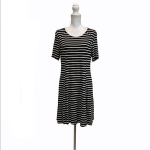 HYFVE Large Stripe Black White Dress